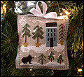 Ornament 4 - Snowy Pines - Cross Stitch Pattern