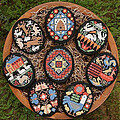 Folk Eggs - Cross Stitch Pattern