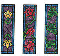 Stained Glass Bookmarks - Cross Stitch Pattern
