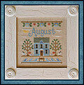 Cottage Of The Month August - Cross Stitch Pattern