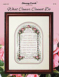 What Cancer Cannot Do - Cross Stitch Pattern