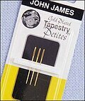 John James Gold Plated Tapestry Petite Needles Size 28