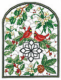 Winter Stained Glass - Cross Stitch Pattern