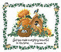 Summer Birdhouse (Linda Bird) - Cross Stitch Pattern