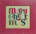 Merry Christmas (with buttons) - Cross Stitch Pattern