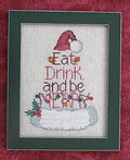 Eat Drink & Be Merry - Cross Stitch Pattern