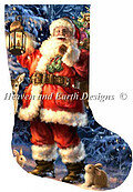 Stocking Woodland Santa - Christmas Cross Stitch Pattern