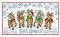Got Snow Reindeer - Cross Stitch Pattern