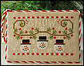 Snowmen Trio - Cross Stitch Pattern