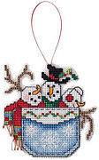 Snowmen in a Pocket - Cross Stitch Pattern