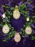 Spring Bling Easter Eggs #1 - Cross Stitch Pattern