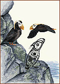 Tufted Puffin - Cross Stitch Pattern