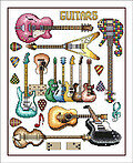Guitars - Cross Stitch Pattern