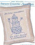 French Country Snowman - Cross Stitch Pattern