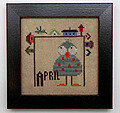 Joyful Journal - April - Cross Stitch Pattern