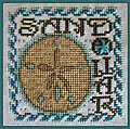 Sand Dollar (with charm) - Cross Stitch Pattern