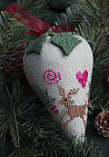 Holly Berry - LINEN Berry Collection - Cross Stitch Pattern