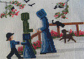 Gossip at the Gate - Cross Stitch Pattern