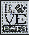 Love Cats w/charm - Cross Stitch Pattern