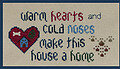 Warm Hearts Cold Noses - Cross Stitch Pattern