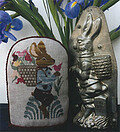 Spring Chocolate Rabbit - Cross Stitch Pattern