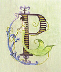 Letters From Mermaids P - Cross Stitch Pattern
