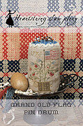 Grand Old Flag Pin Drum - Cross Stitch Pattern