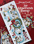 Joy Snowfriends Banner - Cross Stitch Pattern