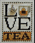 Love Tea (with charm) - Cross Stitch Pattern