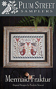 Mermaid Fraktur - Cross Stitch Pattern