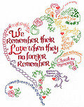 Let's Remember - Cross Stitch Pattern
