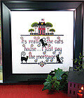 It's the Cat's House - Cross Stitch Pattern