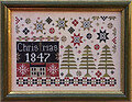 Coverlet Christmas - Cross Stitch Pattern