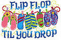 Flip Flop Til You Drop - Cross Stitch Pattern