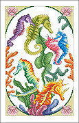 Incredible Seahorses - Cross Stitch Pattern