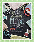 My Stash is Huge - Cross Stitch Pattern