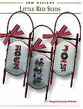 Little Red Sleds - Cross Stitch Pattern