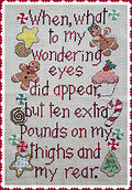 Christmas Pounds - Cross Stitch Pattern