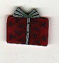 Small Red Gift - Button