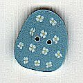 Small Blue Egg - Button