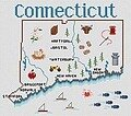 Connecticut Map - Cross Stitch Pattern