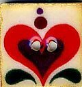 Jim Shore Red Heart on White Button