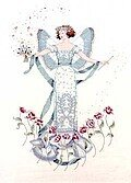 April's Blue Diamond - Mirabilia Cross Stitch Pattern