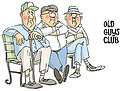 Old Guys Club Set - Unmounted Rubber Stamp
