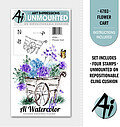 Flower Cart - Unmounted Rubber Stamp