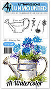 Watering Can - Unmounted Rubber Stamp