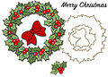 Christmas Wreath Stamp and Die Set