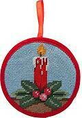 Candle Christmas Ornament - Needlepoint Kit
