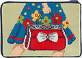 Cosmetic Purse - Mod Maggie - Needlepoint Kit