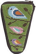 Scissor Case - Birds Of Color - Needlepoint Kit